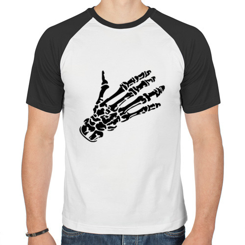 Мужская футболка реглан  Фото 01, Костлявая рука