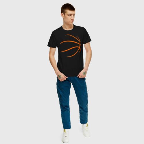 Мужская футболка хлопок Баскетбольный мяч Фото 01