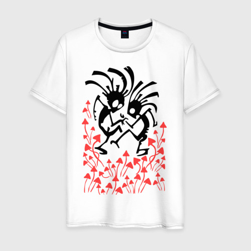 Мужская футболка хлопок Грибочки