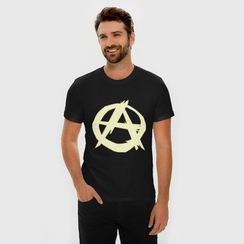Мужская футболка премиум Анархист (светящаяся) Фото 01