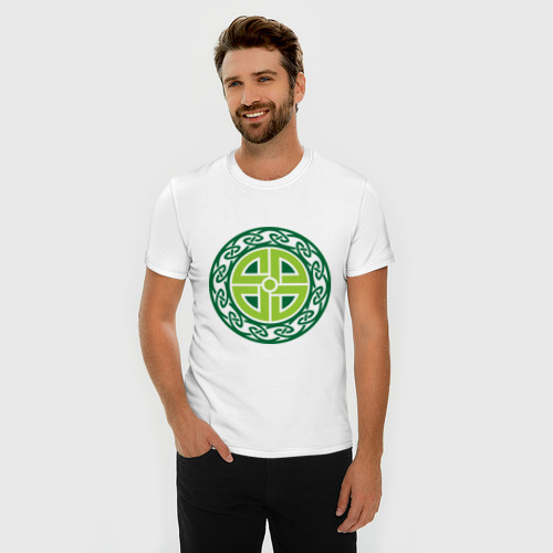 Мужская футболка премиум  Фото 03, Кельтский щит (руна)