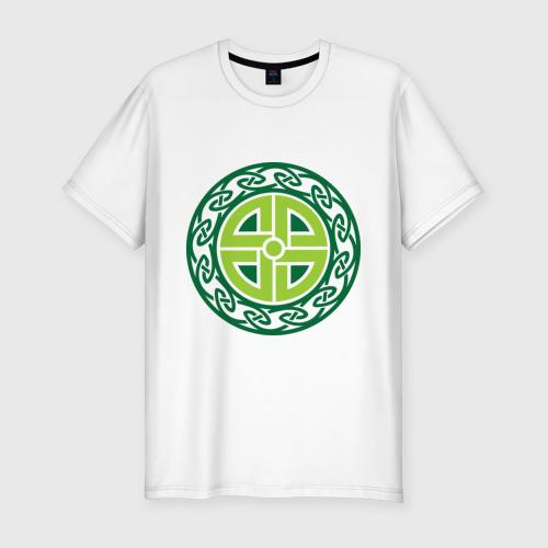 Мужская футболка премиум  Фото 01, Кельтский щит (руна)
