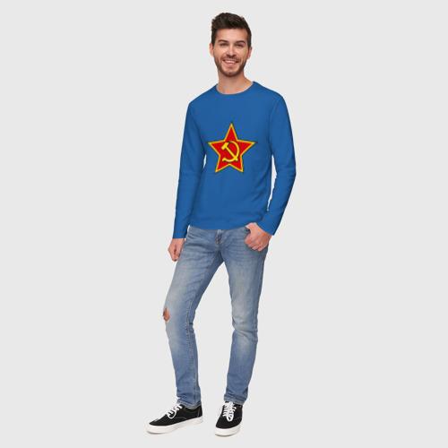 Мужской лонгслив хлопок Звезда с серпом п и молотом Фото 01