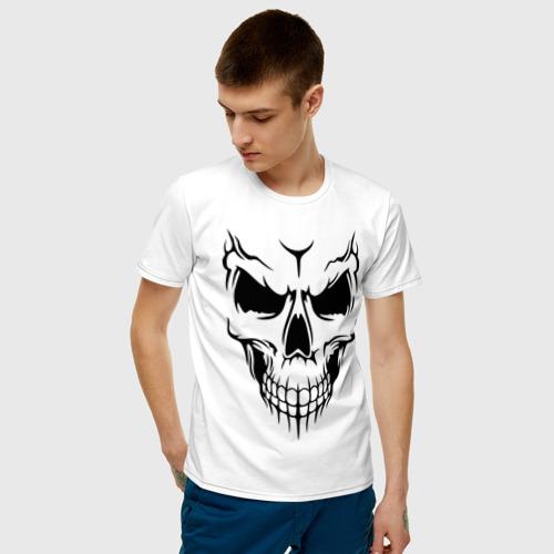 Мужская футболка хлопок Лицо - череп Фото 01