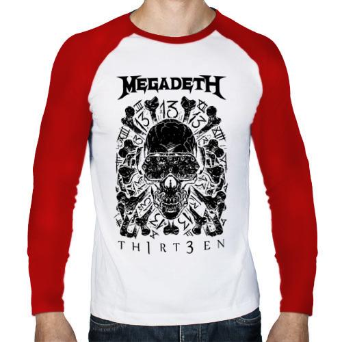 Мужской лонгслив реглан  Фото 01, Megadeth thirteen