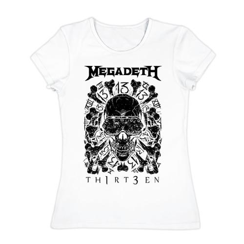 Женская футболка хлопок  Фото 01, Megadeth thirteen
