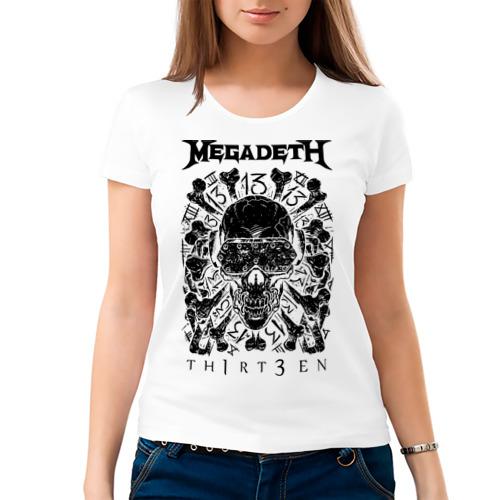 Женская футболка хлопок  Фото 03, Megadeth thirteen