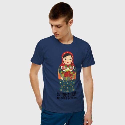 Мужская футболка хлопок Брюнетки правят миром Фото 01