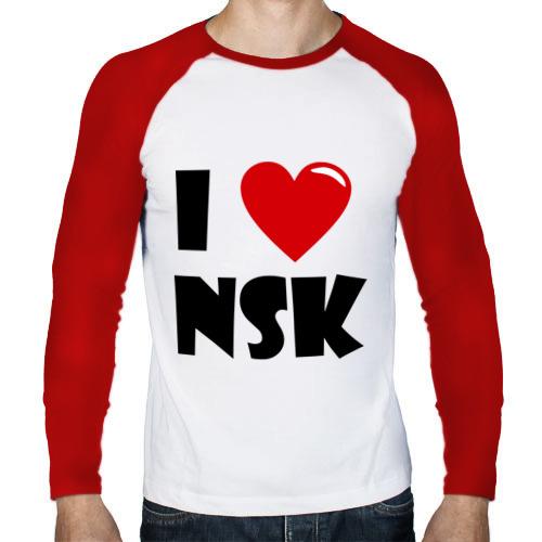 Мужской лонгслив реглан  Фото 01, I LOVE NSK