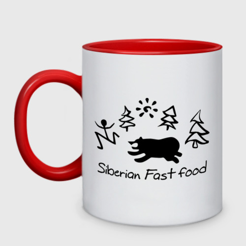 Кружка двухцветная  Фото 01, Siberian Fast food