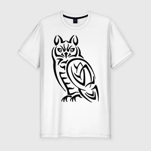 Мужская футболка премиум  Фото 01, Сова кельтский орнамент