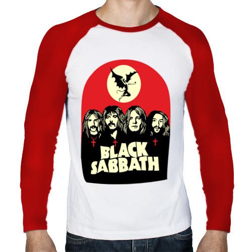 Мужской лонгслив реглан  Фото 01, Black Sabbath