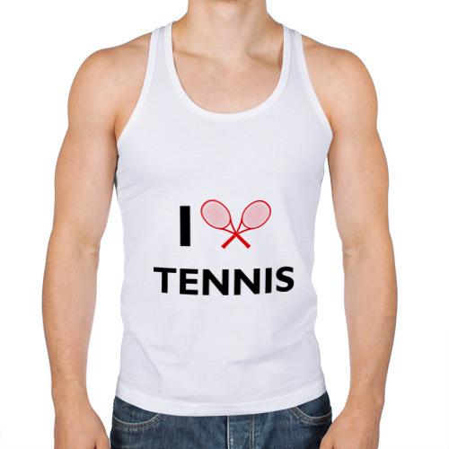 Мужская майка борцовка  Фото 01, I Love Tennis