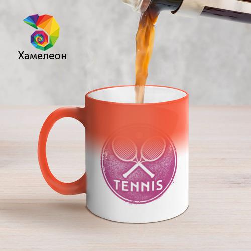 Кружка хамелеон  Фото 05, Tennis