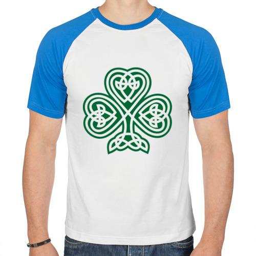 Мужская футболка реглан  Фото 01, Кельтский клевер