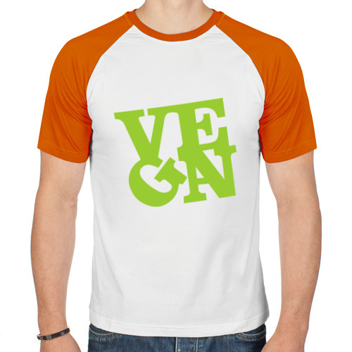 Мужская футболка реглан  Фото 01, Vegan