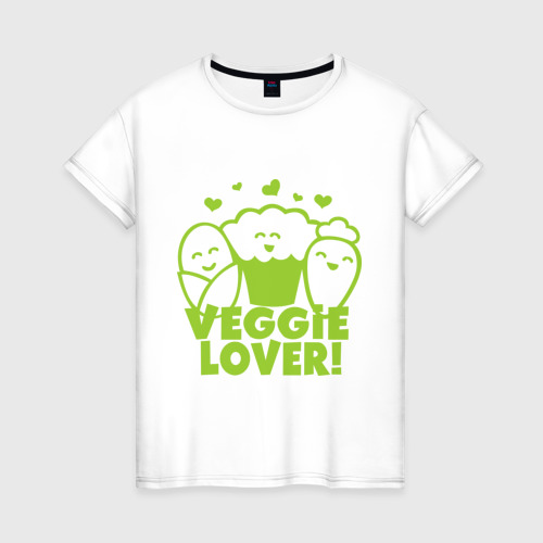 Женская футболка хлопок Veggie lover (овощелюб)