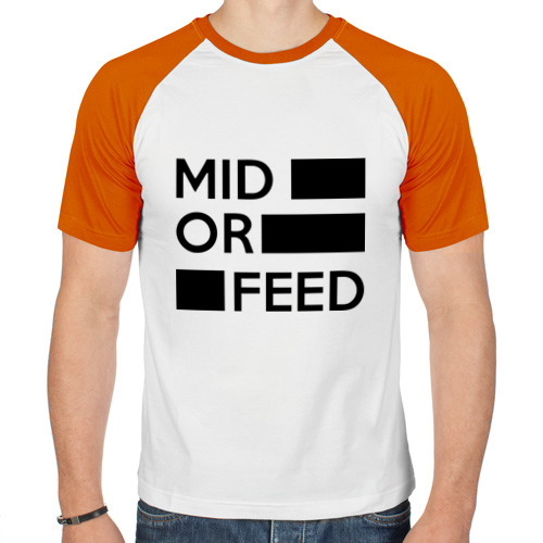Мужская футболка реглан  Фото 01, Mid or feed