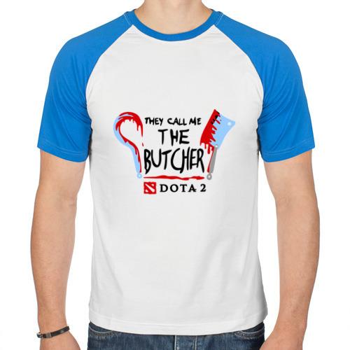 Мужская футболка реглан  Фото 01, They call me the butcher