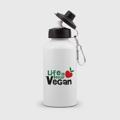 Бутылка спортивная  Фото 01, Vegan life is better