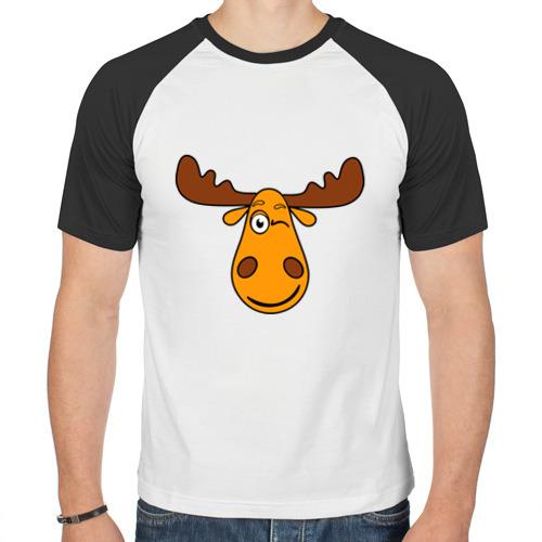 Мужская футболка реглан  Фото 01, Лось подмигивает (Палата №6)