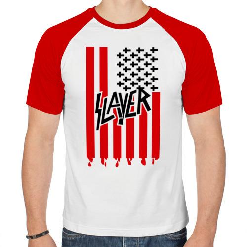 Мужская футболка реглан  Фото 01, Slayer flag
