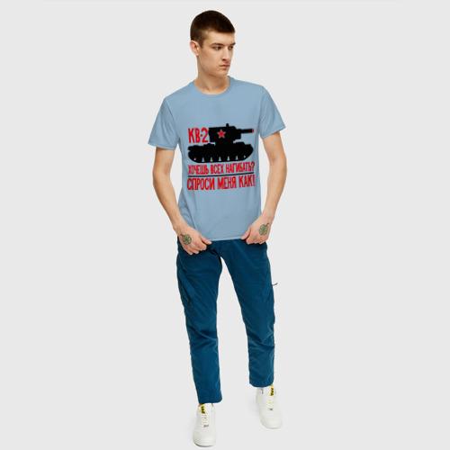 Мужская футболка хлопок Танки. Кв-2 Фото 01
