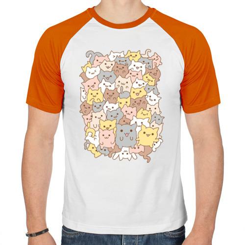 Мужская футболка реглан  Фото 01, Куча котиков