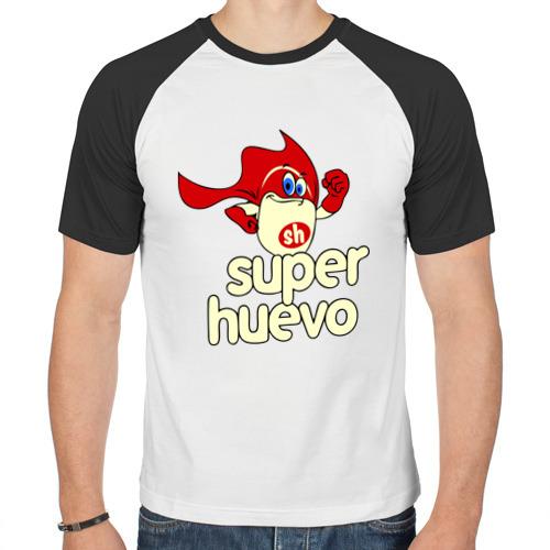 Мужская футболка реглан  Фото 01, Super Huevo