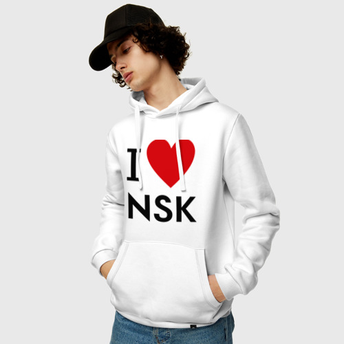 Мужская толстовка хлопок  Фото 03, I love NSK
