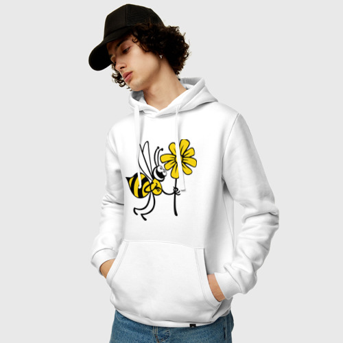 Мужская толстовка хлопок  Фото 03, Пчела с цветочком