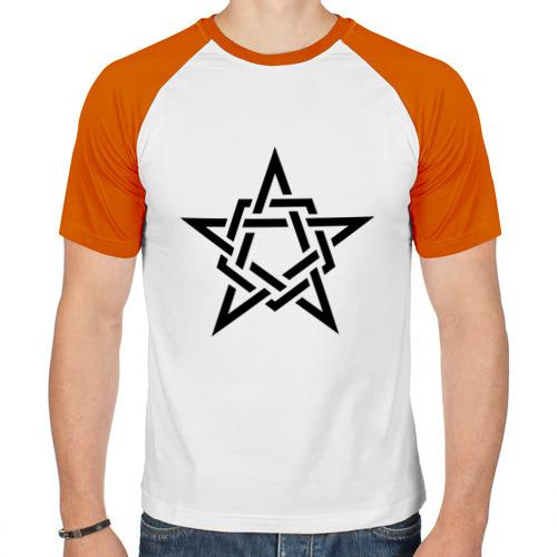 Мужская футболка реглан  Фото 01, Звезда в стиле кельтских узоров