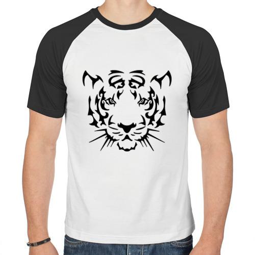 Мужская футболка реглан  Фото 01, Морда тигра