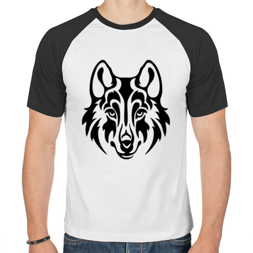 Мужская футболка реглан  Фото 01, Морда волка