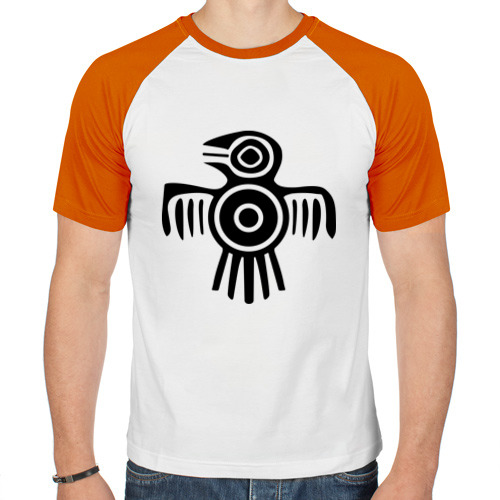 Мужская футболка реглан  Фото 01, Египетская птица