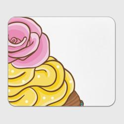 Кекс с розочкой