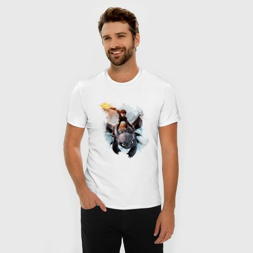 Мужская футболка премиум  Фото 03, Как приручить дракона