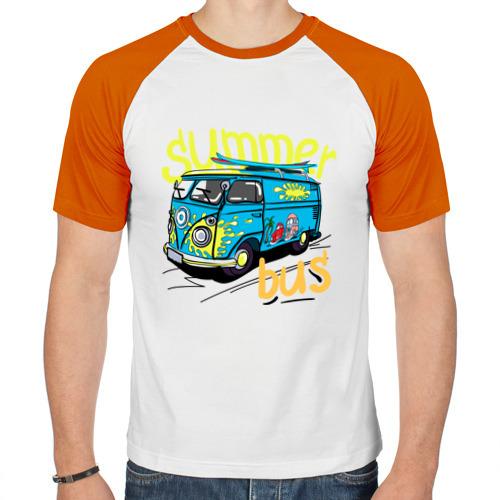 Мужская футболка реглан  Фото 01, Summer bus