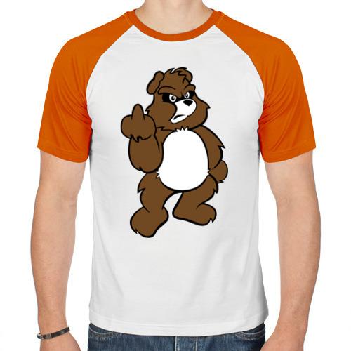 Мужская футболка реглан  Фото 01, Сердитый мишка