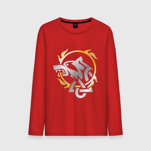 """Мужская футболка с длинным рукавом """"Волчье солнце"""" - 1"""