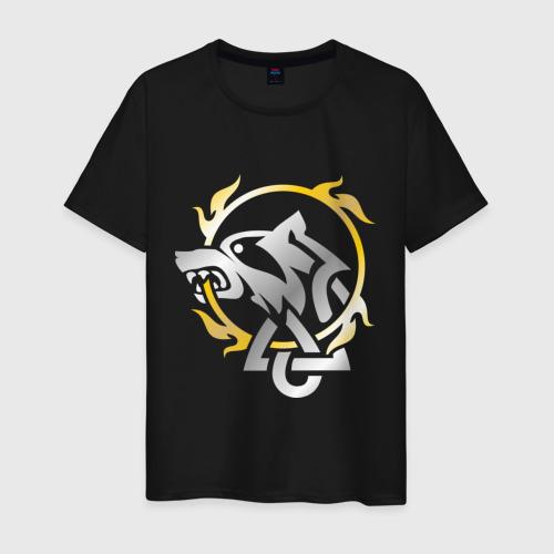 Мужская футболка хлопок Волчье солнце