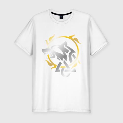 Мужская футболка хлопок Slim Волчье солнце Фото 01