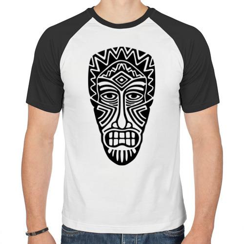 Мужская футболка реглан  Фото 01, Маска аборигенов