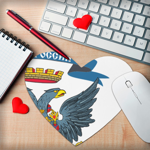 Коврик сердце  Фото 02, Герб Новоросии