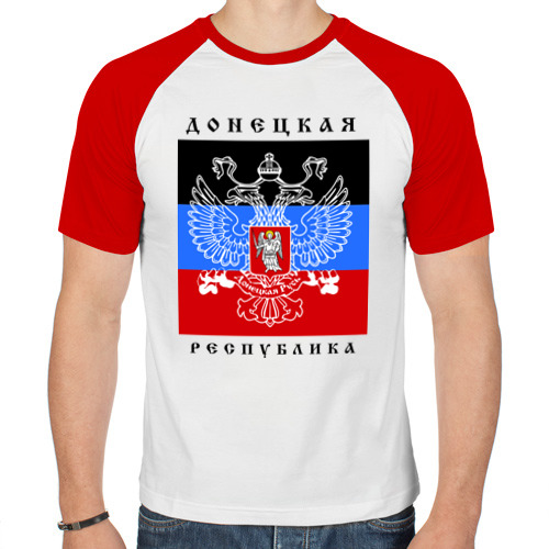 Мужская футболка реглан  Фото 01, Донецкая народная республика