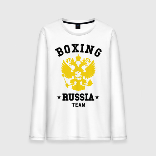 Мужской лонгслив хлопок  Фото 01, Boxing Russia Team