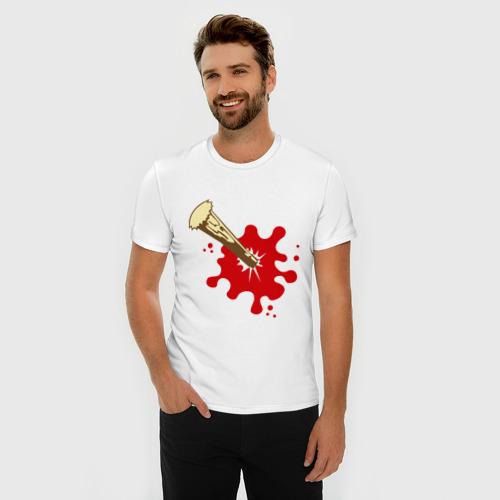 Мужская футболка премиум  Фото 03, Кол в груди