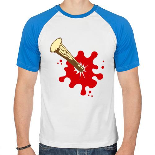 Мужская футболка реглан  Фото 01, Кол в груди
