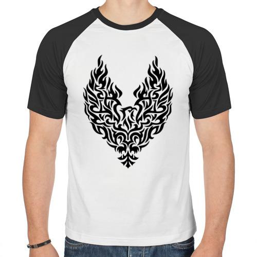 Мужская футболка реглан  Фото 01, Огненный феникс