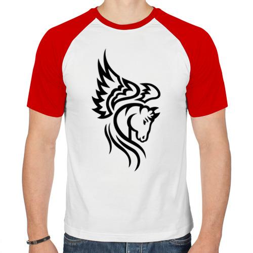 Мужская футболка реглан  Фото 01, Пегас
